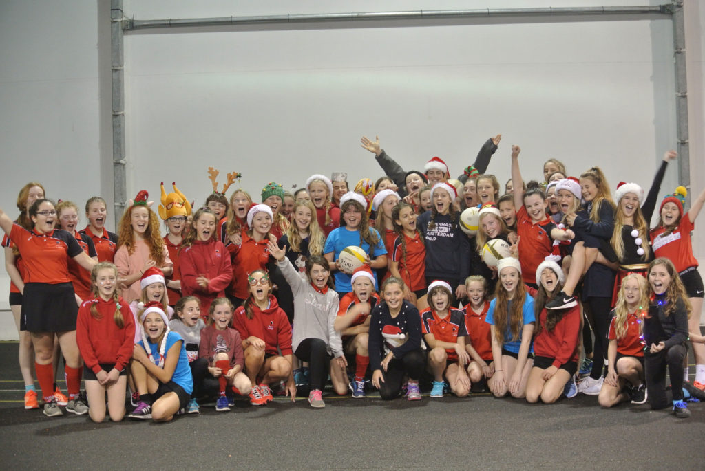 Year 7 and 8 Netball teams celebrate